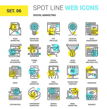 telephone: Digital Marketing Icons