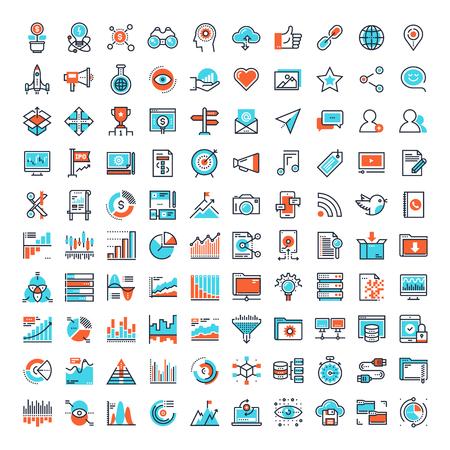 communication icons: Flat Line Web Icons