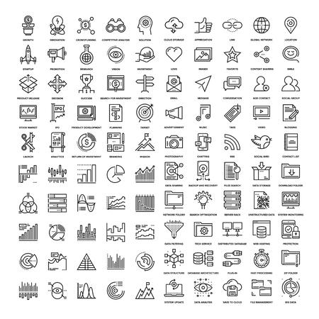 Icônes Web de ligne