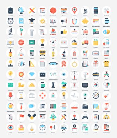 Flat Web Icons Иллюстрация