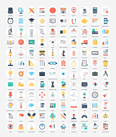 Flat Web Icons Vectores