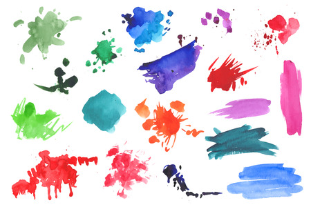 Watercolor splatters collection