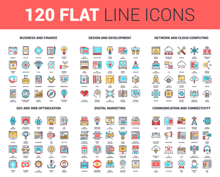 find: Flat Line Web Icons
