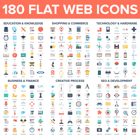 Flat Web Icons Ilustração