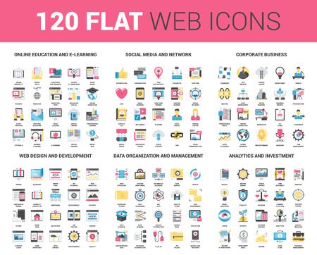 find: Flat Web Icons Illustration