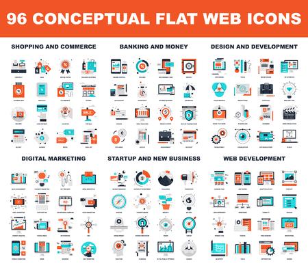 Conceptual Flat Web Icons