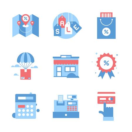 cash: Shopping and Commerce Illustration