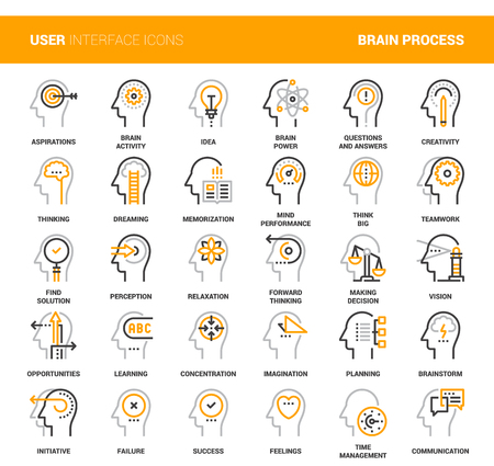 Thinking and brain process.