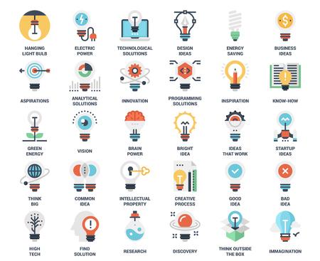 Light bulbs icons set Illustration