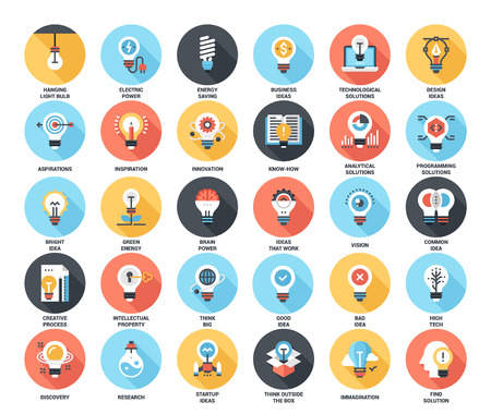 Light bulbs icons Illustration
