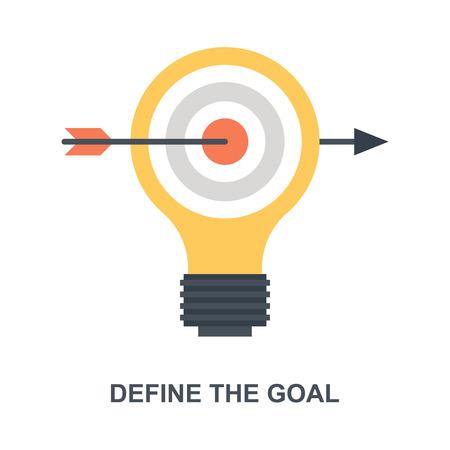Définir le concept d'icône Objectif