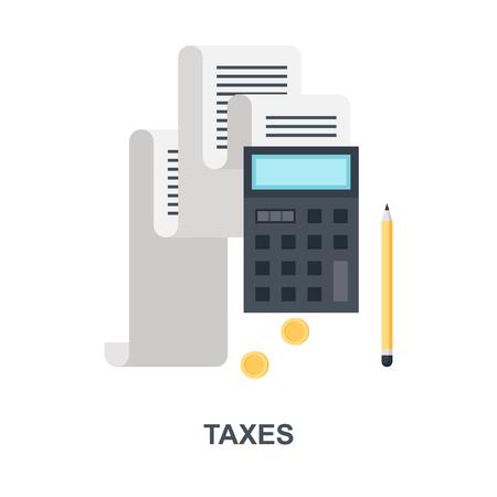 Tax Payment icon concept Ilustração