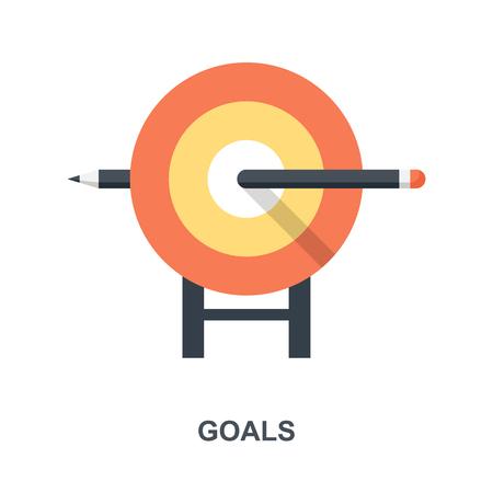 Goals icon concept Ilustração