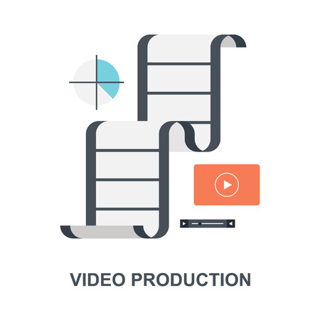 Video Production icon concept Ilustração