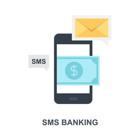 SMS Banking icon concept