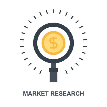 Market Research icon concept Ilustração