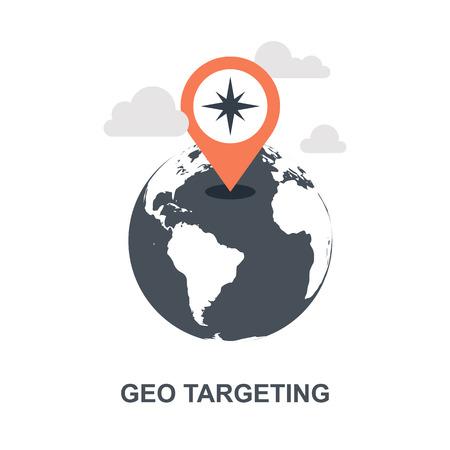 Geo Targeting icon concept