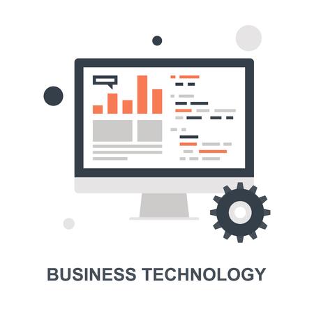 Business Technology icon concept Ilustração