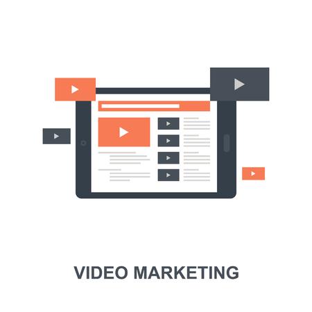 Video Marketing icon concept