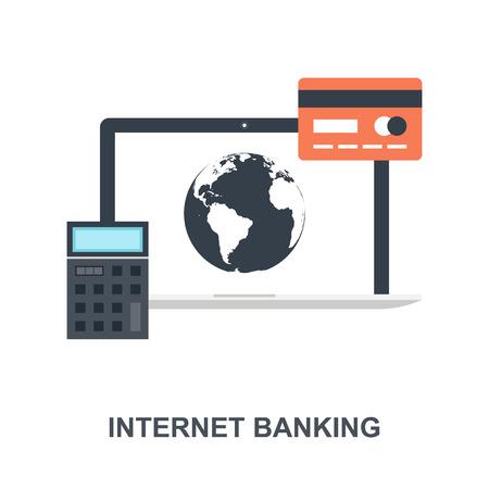 Internet Banking icon concept Ilustração