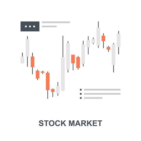 Stock Market icon concept