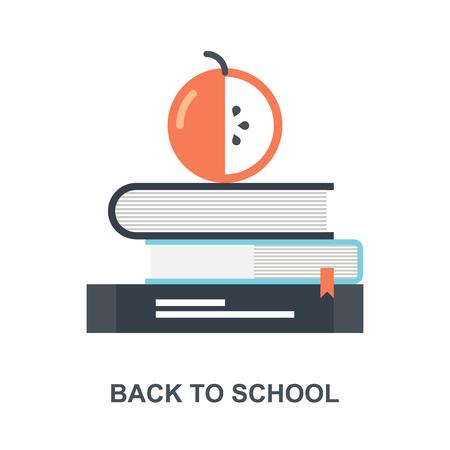 Back to School icon concept Ilustração