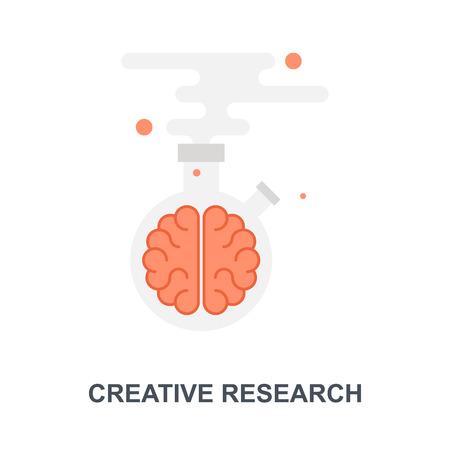Creative Research icon concept