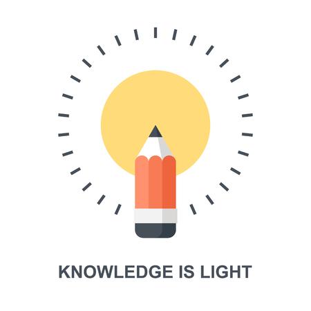 Knowledge is Light icon concept Ilustração