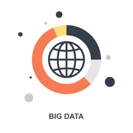 Big Data icon concept Ilustração