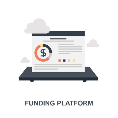 Vector illustration of funding platform flat design concept.