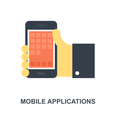 Mobile Applications icon concept