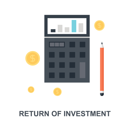 Return of Investment icon concept