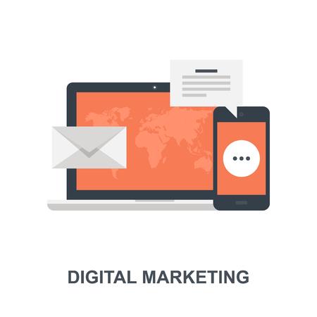 Digital Marketing icon concept Ilustração