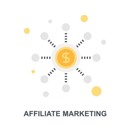 Affiliate Marketing icon concept Ilustração