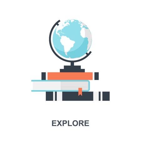 Explore icon concept