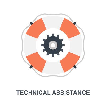 Technical Assistance icon concept Ilustração