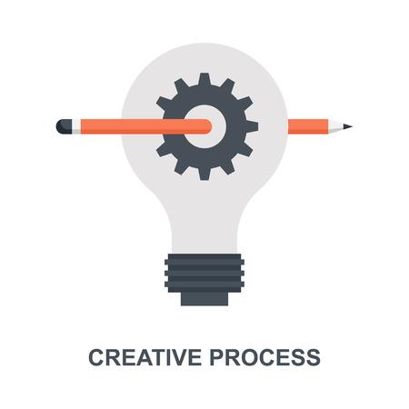 Creative Process icon concept