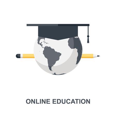 Online Education icon concept Ilustração
