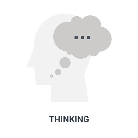 thinking icon concept Ilustração