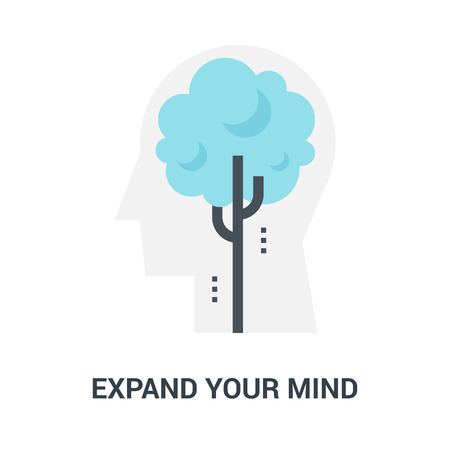 expend your mind icon concept