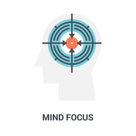concept d'icône de mise au point de l'esprit