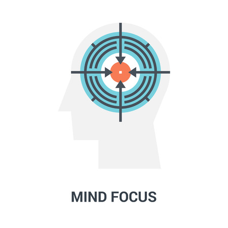 concepto de icono de enfoque mental