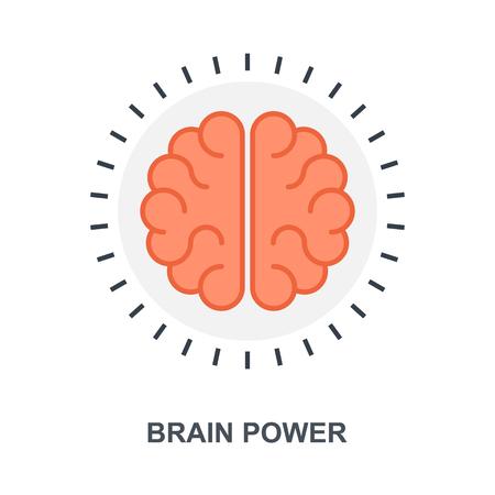 Brain Power icon concept