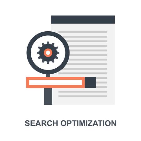 Search Optimization icon concept