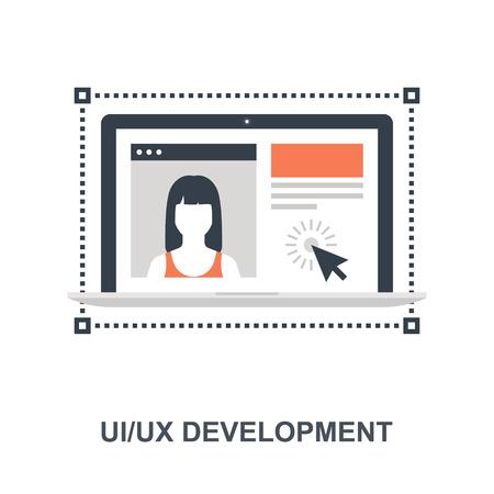 UI UX Development icon concept