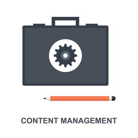Content Management icon concept