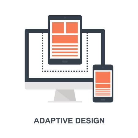 Adaptive Design icon concept