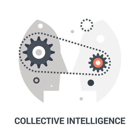 collective intelligence icon concept