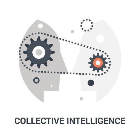 concept d'icône d'intelligence collective Vecteurs