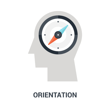 orientation icon concept